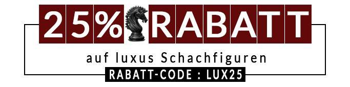 Pauschal 25% Rabatt auf Luxus Schachfiguren und Schachspiele >> http://www.chessbazaar.de/sonderangebote.html