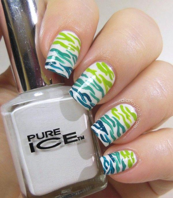 The 25 best zebra stripe nails ideas on pinterest zebra print tropical zebra stripes nail art prinsesfo Images