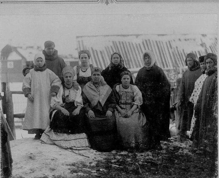 Мезенские крестьяне.  Фотография Якова Лейцингера.