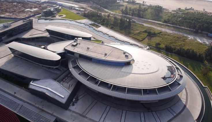 Building looks like Star Trek's starship Enterprise  , - ,   Chinese building...