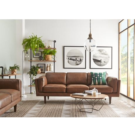 Brings the outdoors in by adding potted plants. Those wax bags are a great idea for indoor plants, too. Freedom Furniture and Homewares