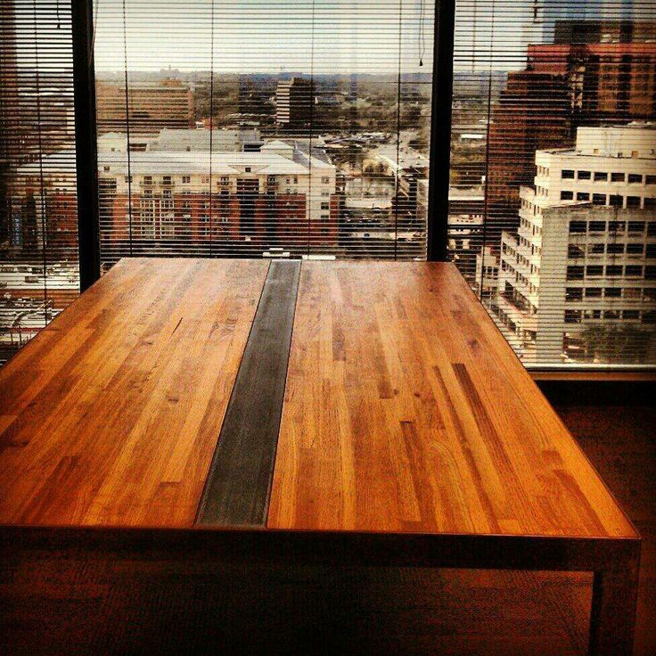 Conference table for the Chase tower in Austin. https//www.facebook
