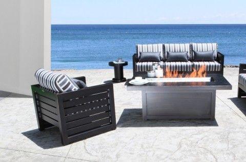 Lakeview Modern Cast Aluminum Patio Furniture Conversation Set