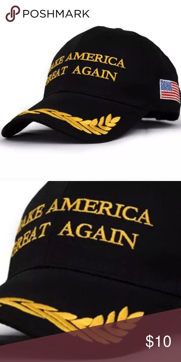 Trump (Black) Leaf Hat Brand new without tags. Material is cotton. This is NOT a political forum! I'm selling this hat, not an argument! Accessories Hats