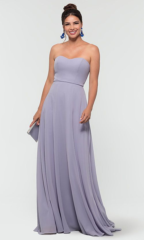 400bc98c250 Image of removable-straps long Kleinfeld bridesmaid dress. Style  KL-200009  Detail