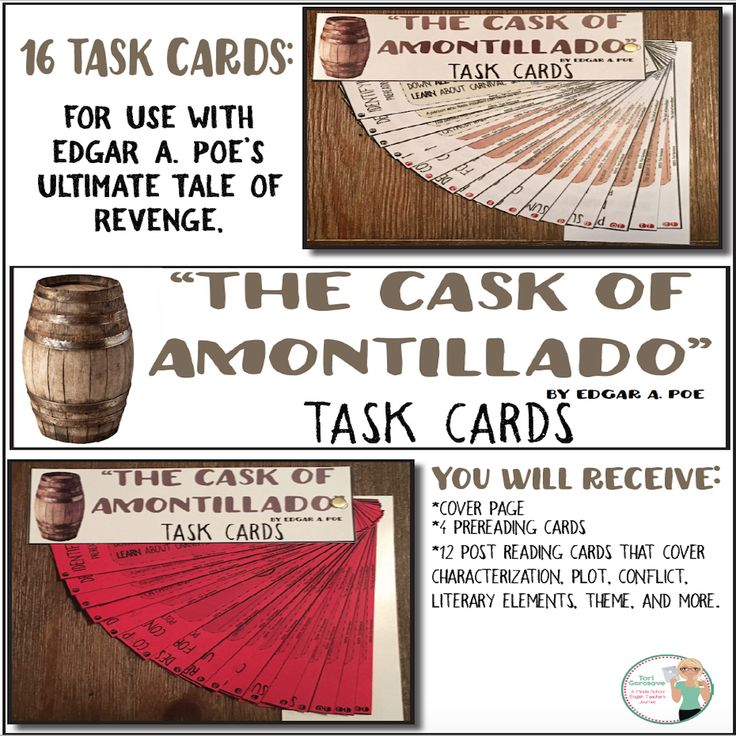 a theme analysis of the cask of amontillado Poe's short stories summary and analysis of the cask of amontillado buy study guide as the narrator, montresor explains to an unknown audience that because fortunato has mortally insulted him, he has vowed vengeance.