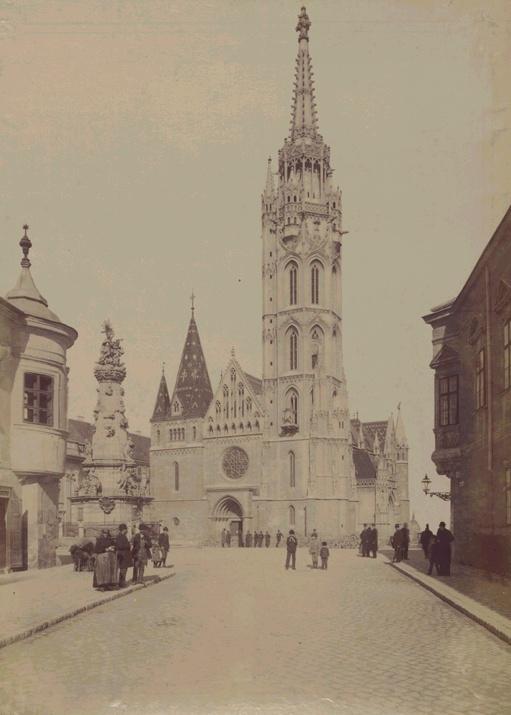 Old Budapest 1890s - Matthias Church.