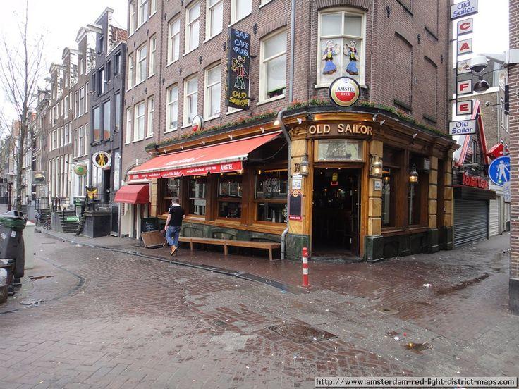 Old Sailor Bar on Oudezijds Achterburgwal and Molensteeg, Amsterdam red light district (De Wallen / Walletjes / De Rosse Buurt). Copyright: ...