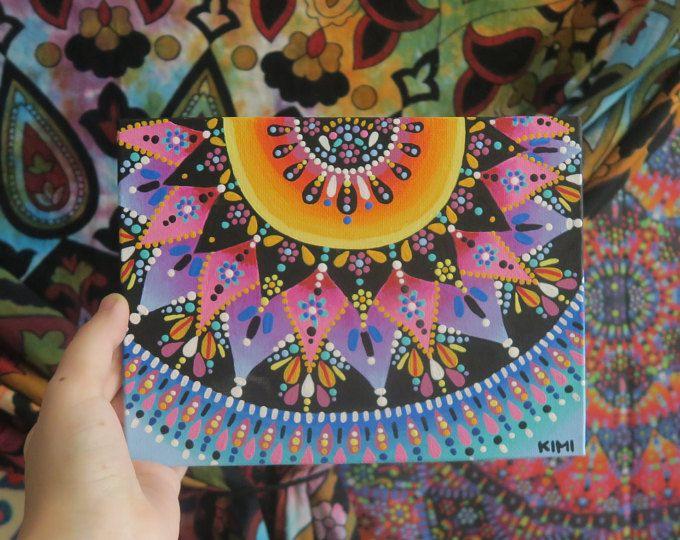 Punto de puesta del sol Mandala pintar 8 x 6