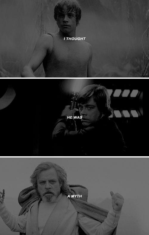 luke skywalker? i thought he was a myth. <<well, you were myth-taken