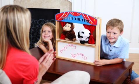 Be a ventriloquist -puppet time!
