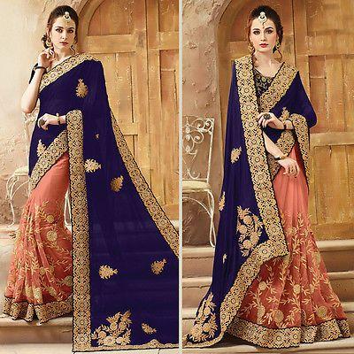 Indian Designer Bollywood Wedding Party Wear Pakistani Heavy Bridal Sari Blouse