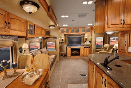 inside a fifth wheel trailor i would travel the world if