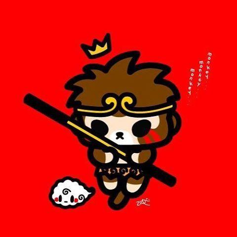 祝大家新年快樂! Wish everyone a happy Chinese New Year! #ziqi #qiqi #monsterlittle #子起 #奇奇 #怪物小 #新年 #新年快樂 #猴子 #孫悟空 #齊天大聖 #monkeyking #monkey #cny #chinesenewyear #cute #art #artist #artwork #character #characterdesign #design #creative #illustration #draw #doodle #sketch #monkeygod