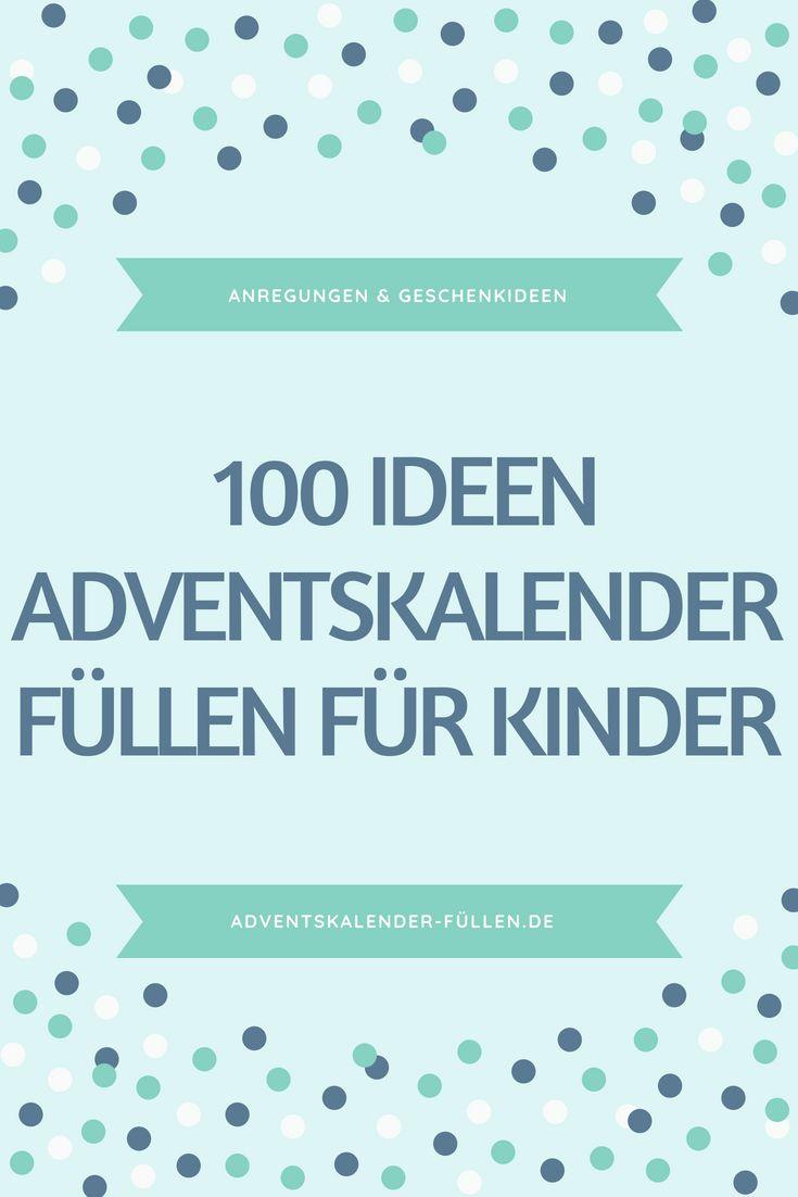 für Kinder – Adventskalender-füllen.de
