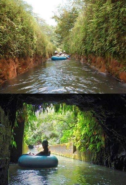 Beautiful Hawaii -Amazing Tropical Adventure.  Irrigation canal tubing on Kaua'i