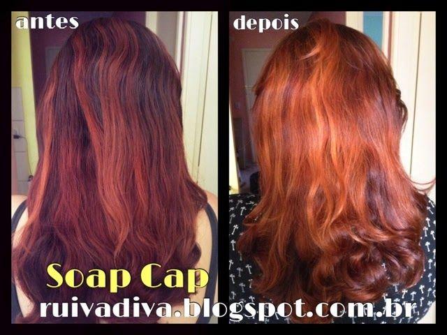 Ruiva Diva: Soap Cap - Clareando ruivo escuro
