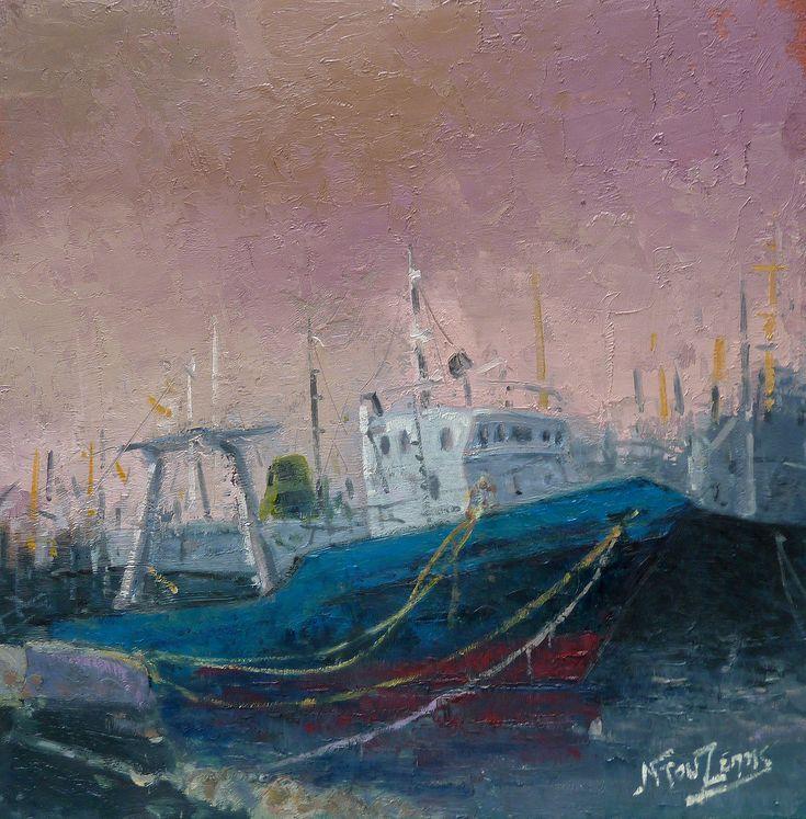''Last trip'' 50x50 cm oil painting by Babis Douzepis