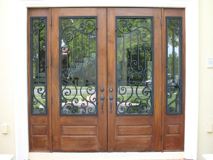 15 Best Wood Doors With Wrought Iron Images On Pinterest