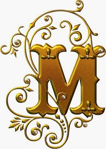 Alfabetos Lindos: Letras douradas com pérolas - abc alfabeto dourado com pérolas lindo