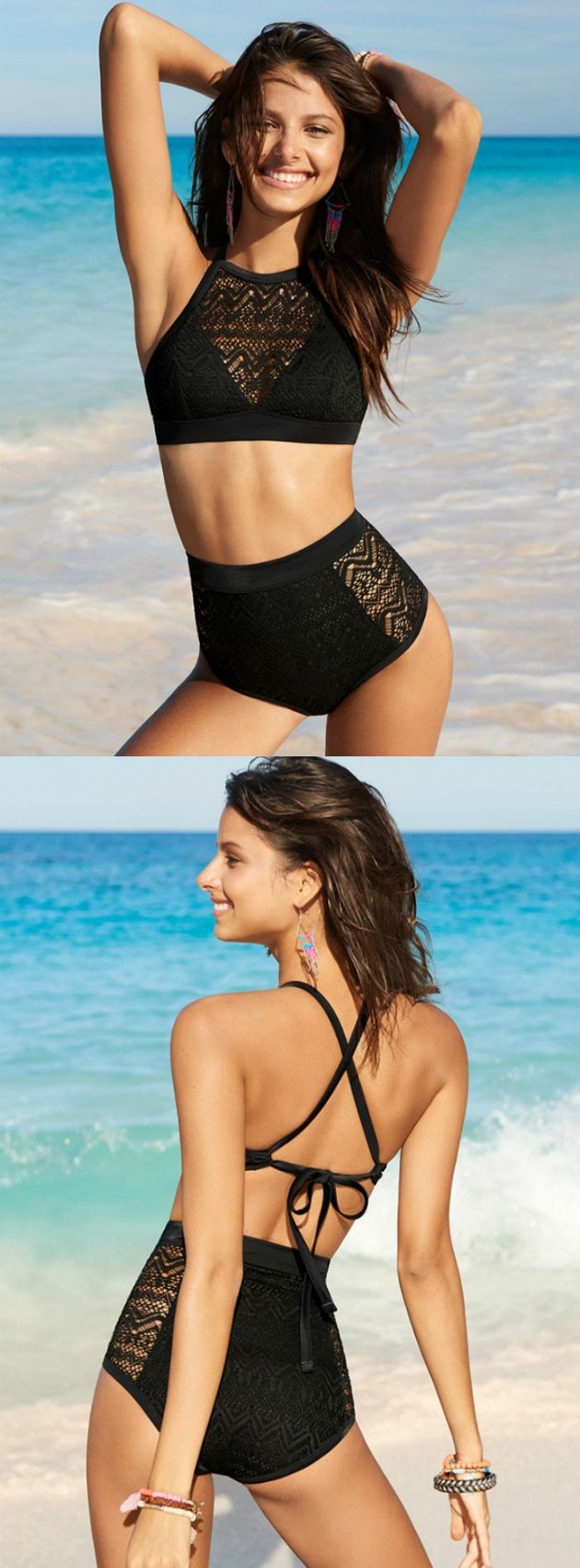 The summer crochet trend is here to stay! Eyes will be on you in this high neck style