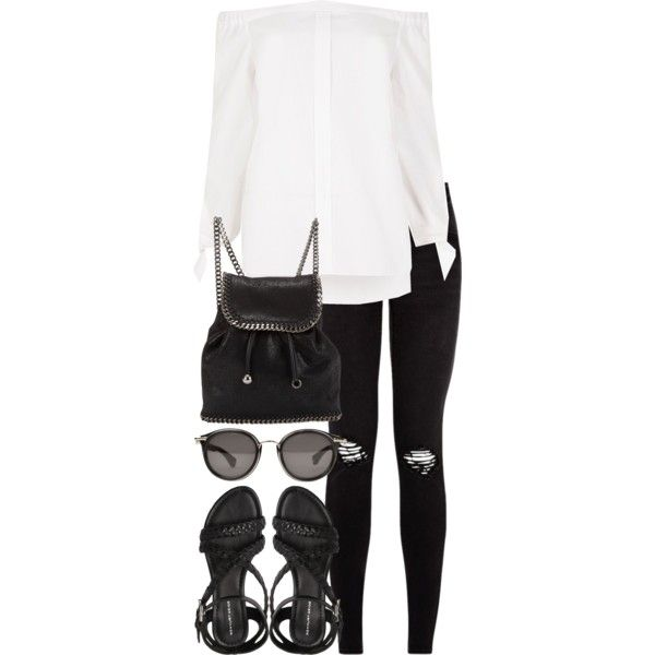 A fashion look from June 2017 featuring River Island tops, KG Kurt Geiger sandals and STELLA McCARTNEY backpacks. Browse and shop related looks.