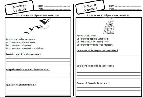 Un texte, 3 questions, lire, lecture, compréhension, questions, phrase réponse, dixmois, comprendre, cep, ce1