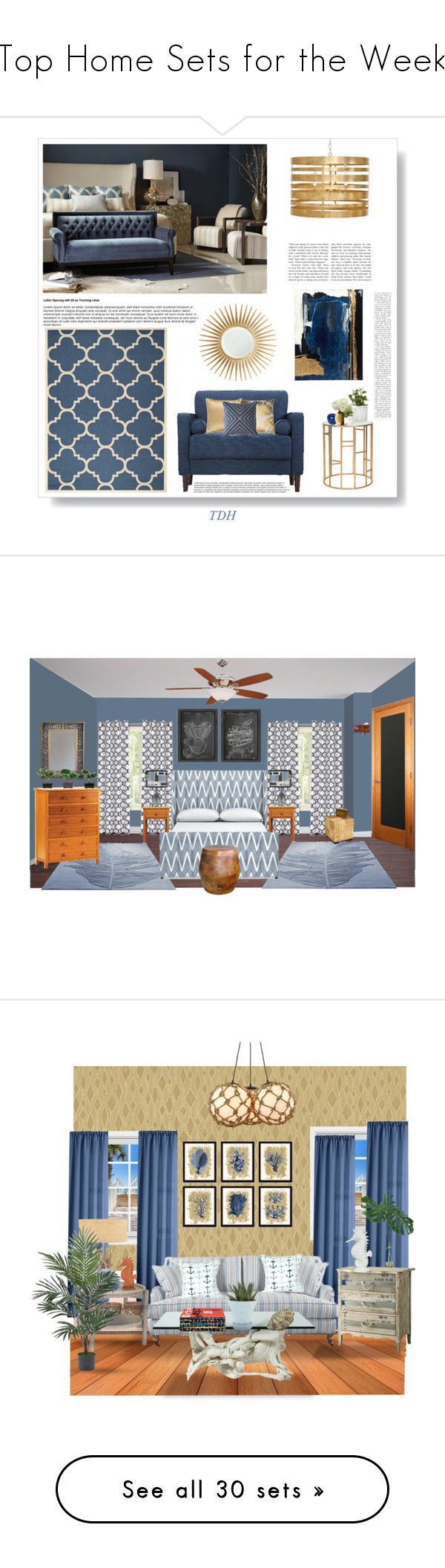 """""""Top Home Sets for the Week"""" by polyvore ❤ liked on Polyvore featuring interior, interiors, interior design, home, home decor, interior decorating, Safavieh, Bitossi, LSA International and Barclay Butera"""