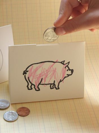 "Printable Piggy Bank--Change this and put print of God.  Make this a give away ""God Box"" write things we can't control on slip of paper and drop inside to -hand this problem over to God!"