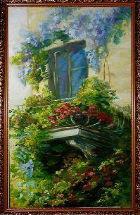 Дом в цветах - Средиземноморье <- Картины маслом <- Картины - Каталог | Универсальный интернет-магазин подарков и сувениров
