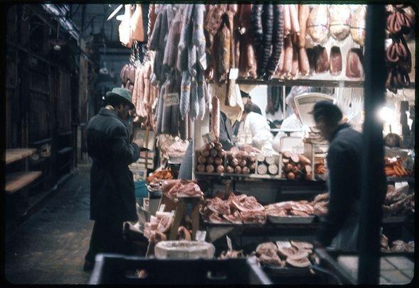Butcher shop in Les Halles, Paris
