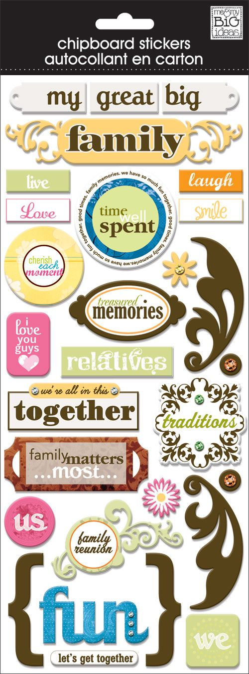 "Chipboard stickers are a great way to add dimension to all your papercrafting projects! Each package contains a 5"" x 12"" sheet of self-adhesive, chipboard stickers. Item #: CBP-77"