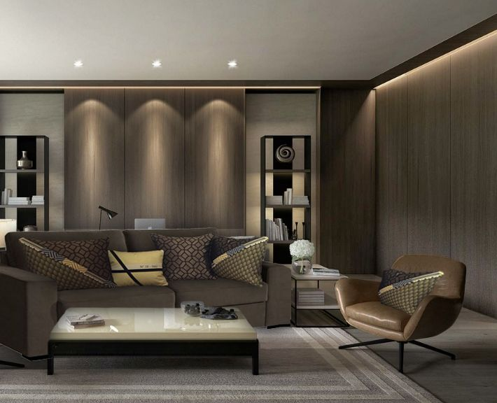 coussins tendance dor s et bronze pour habiller un canap taupe et donner une ambiance design. Black Bedroom Furniture Sets. Home Design Ideas