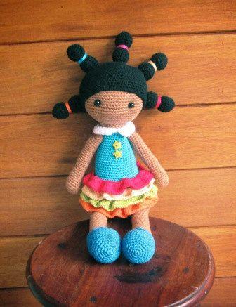 Tatenda a hand-crocheted doll from Africa by AfricanDaisyCrochet