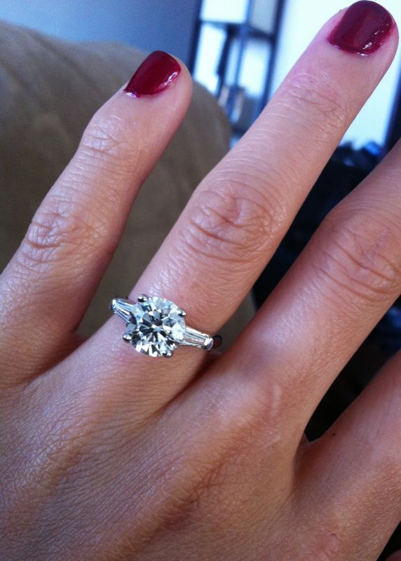 Spin off: Post Pics of Your Lovely Rings with Baguette Side Stones « Weddingbee Boards
