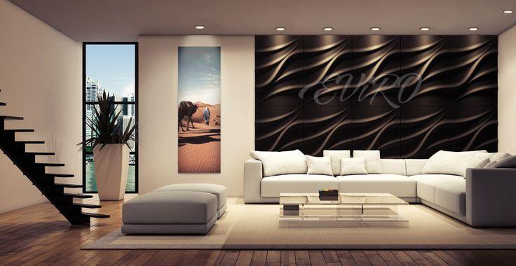 Лотос Гипсовые 3D панели EViRO серии Лотос поражают изящностью и грациозностью волнистых линий и изгибов. Материал создает атмосферу спокойствия и безмятежности. Кажется, что эти изгибы бесконечны, будто они являются продолжением естественных линий природы.  Стена, отделанная гипсовыми декоративными панелями , становится самостоятельным предметом интерьера, она не требует украшений или дополнительной обработки