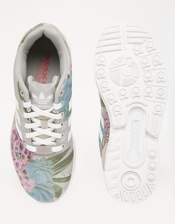 Image 3 ofadidas Originals Floral Print ZX Flux Trainers http://www.95gallery.com/