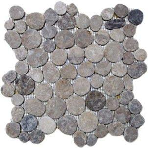 grey circle pebble tile