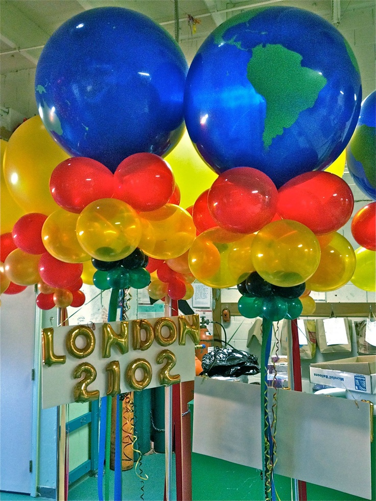 17 best images about balloon bouquets on pinterest for Balloon decoration london