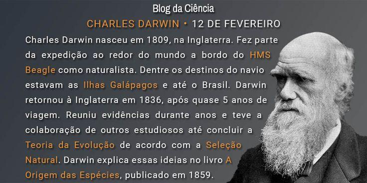 Nascido em 1809, na Inglaterra, Darwin é conhecido principalmente por formular a Teoria da Evolução de acordo com a Seleção Natural.