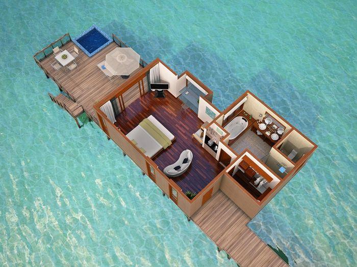 Conrad maldives rangali island hotel king water villa for Hotel conrad maldives ubicacion