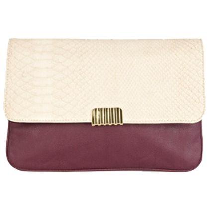 Clutch 36,00 € ♥ Hier kaufen: http://www.stylefruits.de/clutch-mit-metallschliesse-warehouse/p4779361