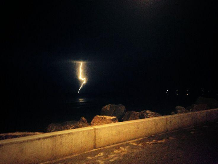 Lightning over Glenelg