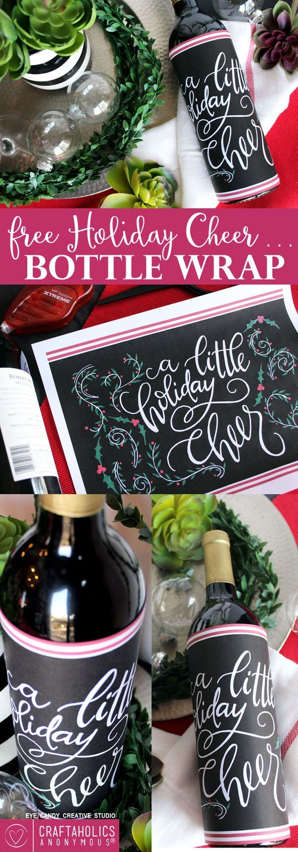 Christmas Party Hostess Gift Ideas Part - 22: Free Holiday Printable Free Printable Bottle Wrap Free Christmas Printable.  Christmas DiyChristmas PartiesChristmas Gift IdeasHoliday ...