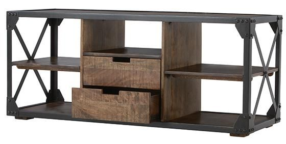 Decker Media Stand - Industrial Tv Stand - Tv Console - Media Stand | HomeDecorators.com