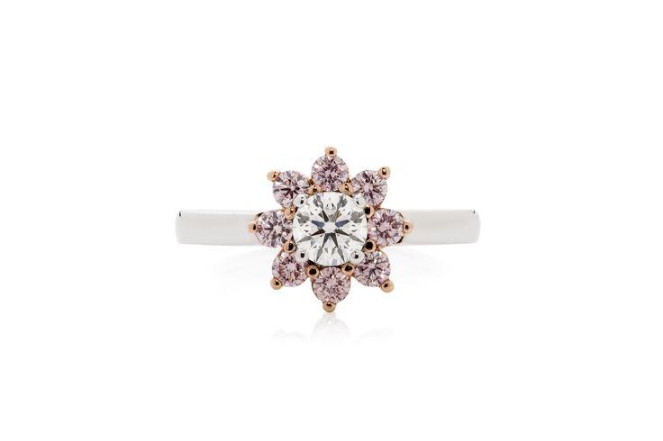 Pink Diamond Flower Design