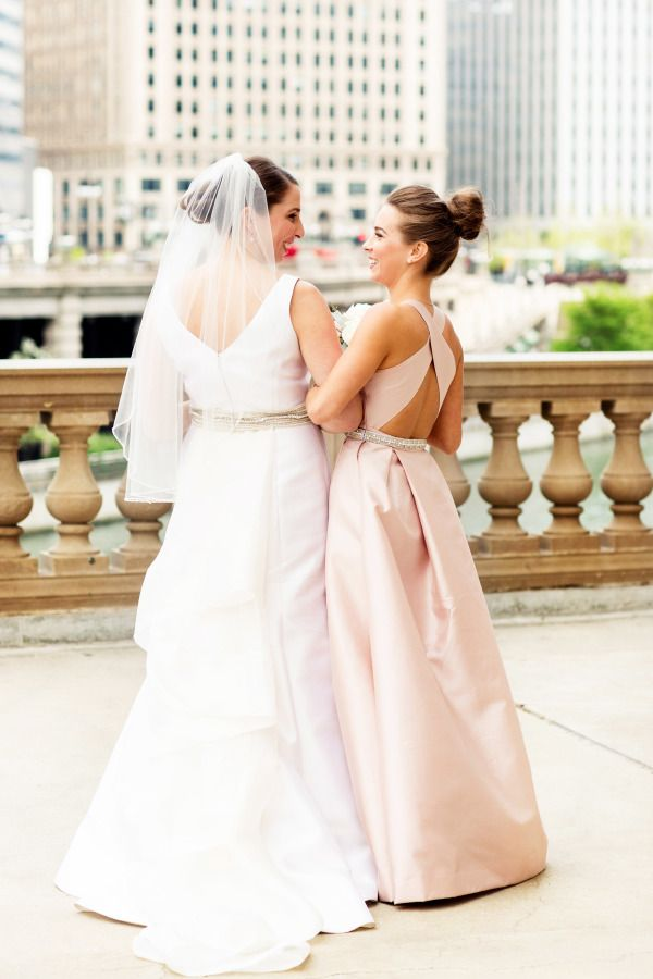 Chic Pink Bridesmaids Dress | photography by http://olivialeighweddings.com/