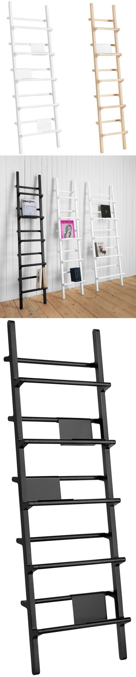 Multi-purpose ladder bookshelf