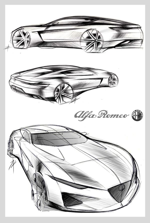 Sketch to Model by Tony Chen, via Behance