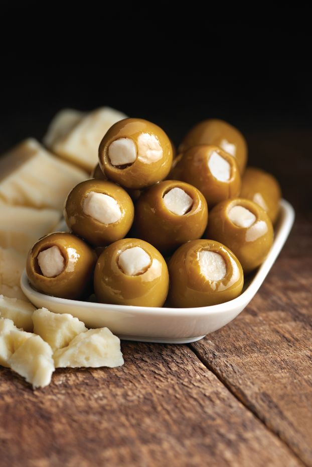 Green Olives Stuffed with Provolone Cheese - Castella Imports